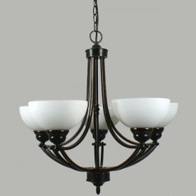 Houston 5Light Pendant Light - Bronze