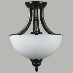Houston 2Light Semi-Flush Mount Ceiling Light - Bronze