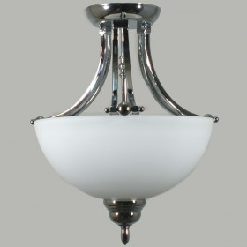 Houston 2Light Semi-Flush Mount Ceiling Light - Chrome