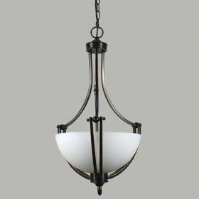 Houston 2Light Single Suspension Ceiling Light - Bronze