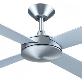 "Intercept2 52"" AC Timber 4Blade Ceiling Fan - Brushed Aluminium"