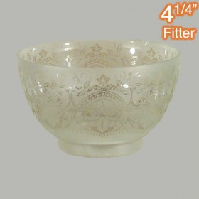"Keon Glass Shade - 4.25"" Fitter - Frost Etched"