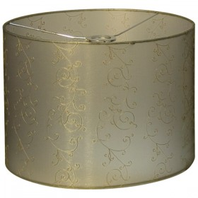 Lacey40 Large Fabric Shade - Gold
