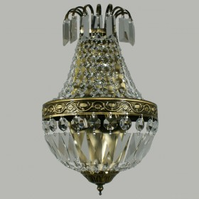 Le Pavillon 2Light Antique Brass Wall Light