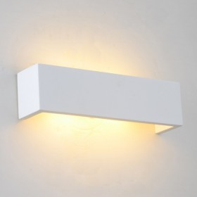 Linear Plaster Wall Sconce Light