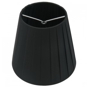 Ling Pleated Clip-On Fabric Shade - Black