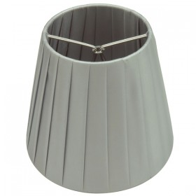 Ling Pleated Clip-On Fabric Shade - Grey