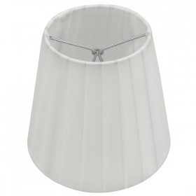 Ling Pleated Clip-On Fabric Shade - White