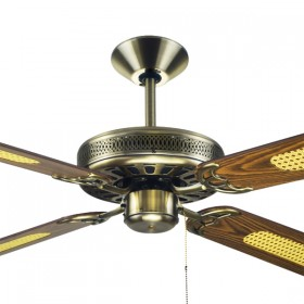 "Majestic Coolah 52"" AC Timber 4Blade Ceiling Fan - Antique Brass"