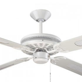 "Majestic Coolah 52"" AC Timber 4Blade Ceiling Fan - White"