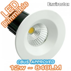 12w Dimmable COB LED MDL601 White Fixed Downlight Kit
