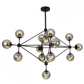 Moet LED 14Light Pendant Light - Black + Champagne Glass