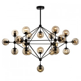 Moet LED 21Light Pendant Light - Black + Champagne Glass