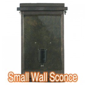 Montrose Small Outdoor Wall Sconce Light - Antique Bronze