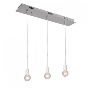 Mooney 3 Light Pendant - White