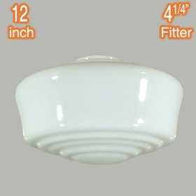 "Moulins 12"" Glass Shade - Opal Gloss"
