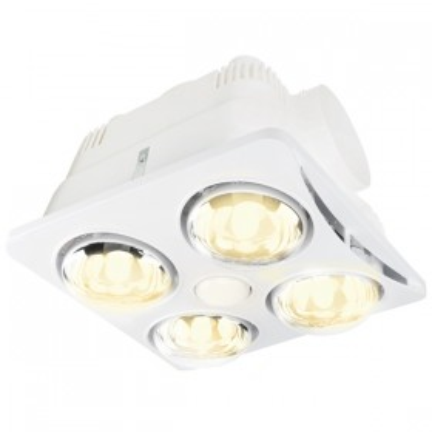 Newton LED 3in1 Bathroom Heater - White 4Heat