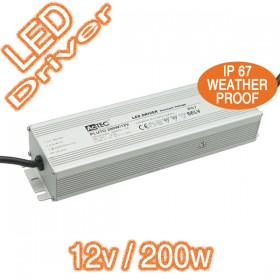 Actec Pluto12V/200W Electronic LED Driver - Constant Voltage Weatherproof IP67
