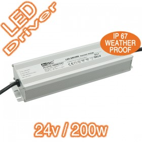 Actec Pluto24V/200W Electronic LED Driver - Constant Voltage Weatherproof IP67