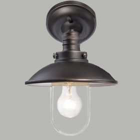 Port Outdoor Under Eave Light - Antique Bronze