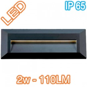 Prima Rectangle LED Wall Light - Black