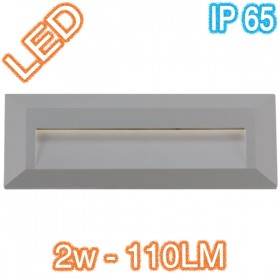 Prima Rectangle LED Wall Light - Silver