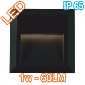 Prima Square LED Wall Light - Black