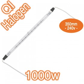 Linear Halogen 1000w Lamp with Leads - QI 350mm 240v Globe