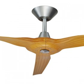 "Radical2 60"" DC Polymer 3Blade Ceiling Fan - Brushed Aluminium + Bamboo"
