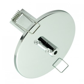 100mm Recessed Canopy - Chrome