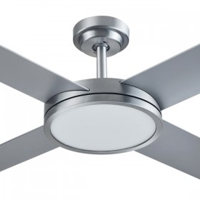 "Revolution3 52"" with Dimming LED AC Polymer 4Blade Ceiling Fan - Brushed Aluminium"