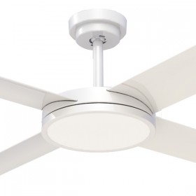 "Revolution3 52"" with Dimming LED AC Polymer 4Blade Ceiling Fan - White"