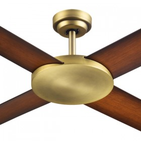 "Revolution3 52"" AC Polymer 4Blade Ceiling Fan - Antique Brass"