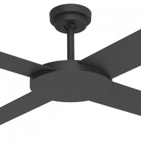 "Revolution3 52"" AC Polymer 4Blade Ceiling Fan - Matt Black"