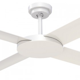 "Revolution3 52"" AC Polymer 4Blade Ceiling Fan - White"