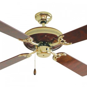 "Majestic 52"" AC Timber 4Blade Ceiling Fan - Rosewood"