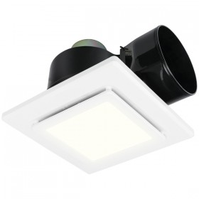 "Sarico LED 325 10"" Square Exhaust Fan & Light - White"