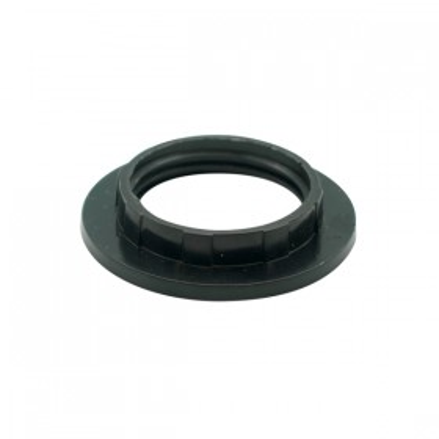 E14 / B15 Plastic Shade Ring - Black