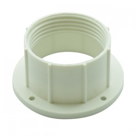 E27 / B22 Plastic Shade Ring - White Deep