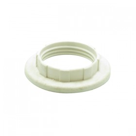 E14 / B15 Plastic Shade Ring - White