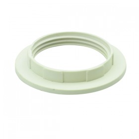 E27 / B22 Plastic Shade Ring - White