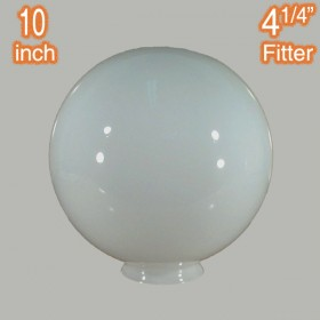 "10"" Sphere Glass Shade - Opal Gloss"