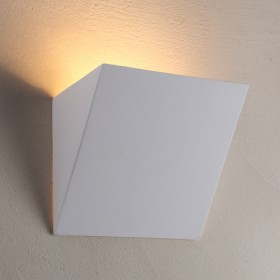 Spout Plaster Wall Sconce Light