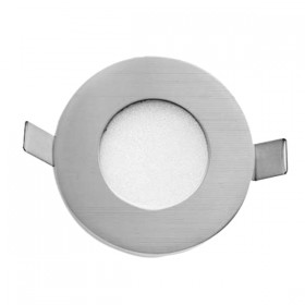 Stow Round LED Wall Light - Silver
