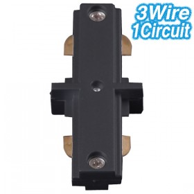Black Straight Joiner - 3Wire 1Circuit