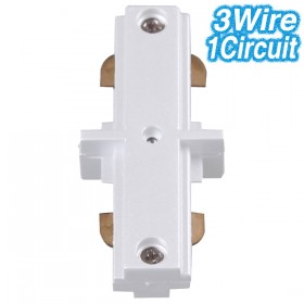 White Straight Joiner - 3Wire 1Circuit
