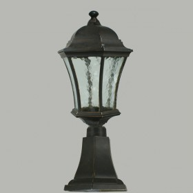 Strand Outdoor Small Pillar Mount Light - Antique Bronze