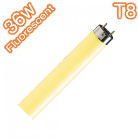 T8 G13 36w Yellow Coloured Fluorescent Linear Tube - 240v Globe