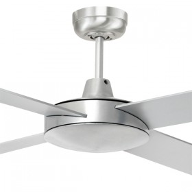 "Tempest 52"" AC Timber 4Blade Ceiling Fan - Brushed Aluminium"
