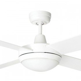 "Tempest 52"" with LED Light AC Timber 4Blade Ceiling Fan - White"